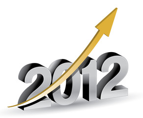 Happy new year 2012 with rising graph