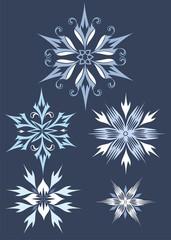 vector decorative snowflake
