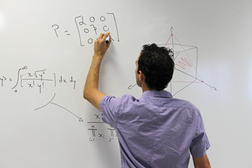 Elève au tableau - prof - teacher - student