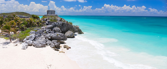 Canvas Prints Mexico Mayan ruins in Tulum
