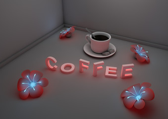 Coffee flower scene