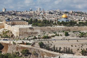 Majestic panorama of Jerusalem.