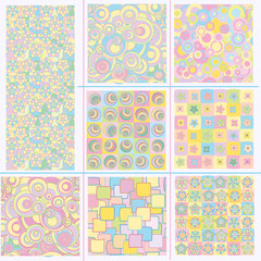 Cute seamless patterns.