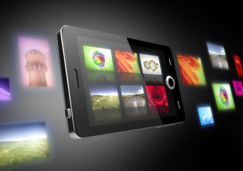 Photos in mobile phones concept