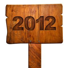 "wood sign with ""2012"" number"
