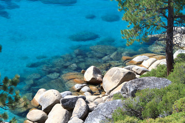Wall Mural - Lake Tahoe shore