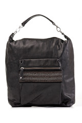 Black female bag over white