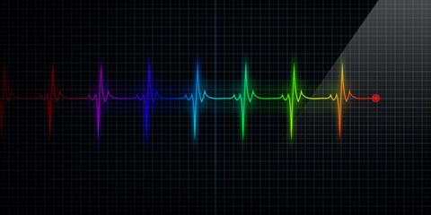 Colorful Heart Monitor