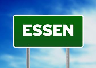 Green Road Sign - Essen, Germany