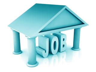 3d concept of job