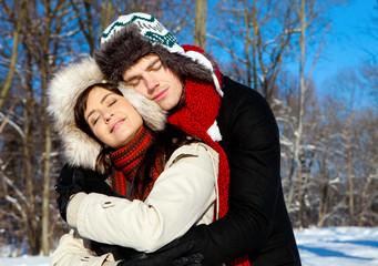 couple winter love
