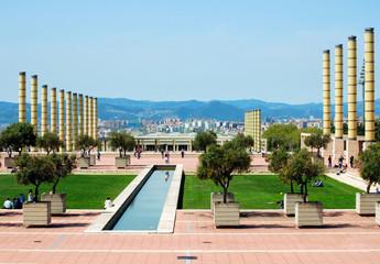 Olympic stadium, Passage Minici Natal, Barcelona, Catalonia,Spai