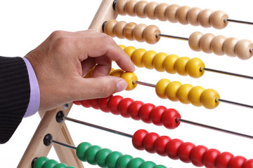 Calculating with an abacus