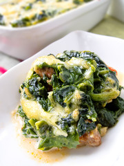 Spinach-Minced Meat bake