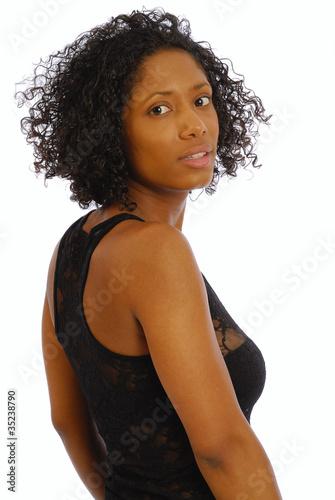 Belle femme metisse