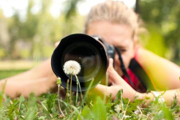 photographer - Beautiful girl with camera