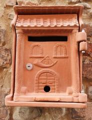 retro clay mailbox, Italy