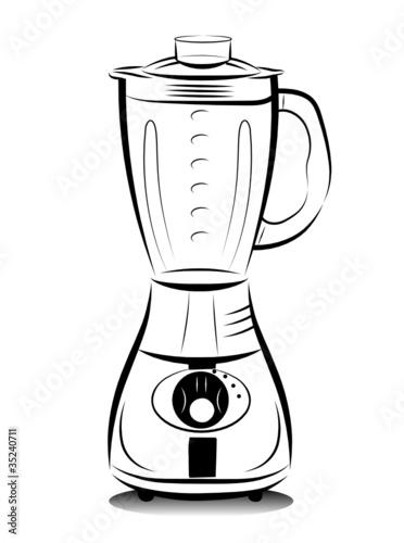 Cartoon Food Processor ~ Image of food mixer drawing foodmixer icons noun