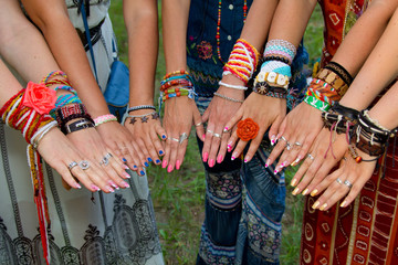Hands of hippie