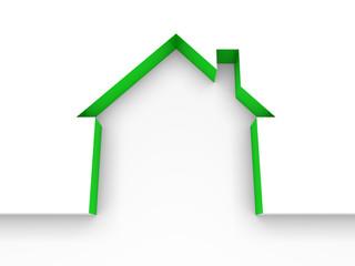 3d house estate green