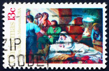 Postage stamp USA 1976 Nativity