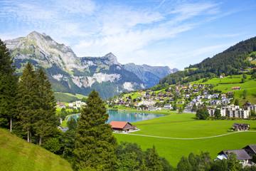 Engelberg village in Switzerland Wall mural