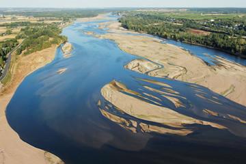 Photo aérienne de Montsoreau sur Loire 49
