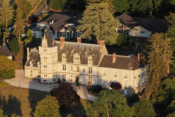 Château de Rilly-sur-Loire vue du ciel