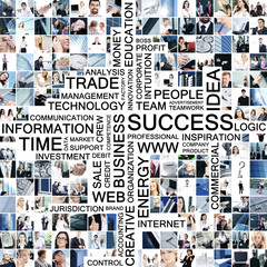 Business collage made of many different pictures
