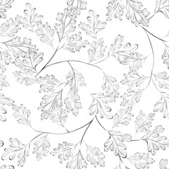 Seamless walpaper with leaves
