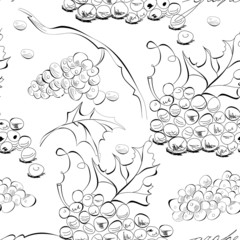 Seamless wallpaper with grapes