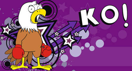 eagle boxer cartoon background5