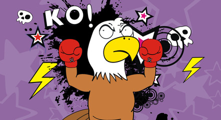 eagle boxer cartoon background4
