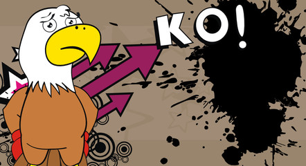 eagle boxer cartoon background1