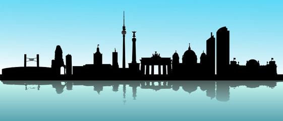 Berlin Skyline verschwommen