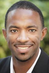 Image of a handsome black man smiling