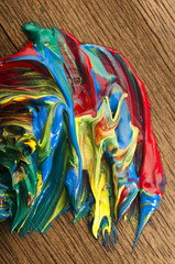 Fotobehang Paradijsvogel mixing paints. background