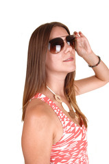 Girl with sunglasses.