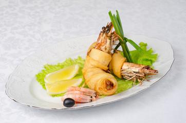 shrimps dish