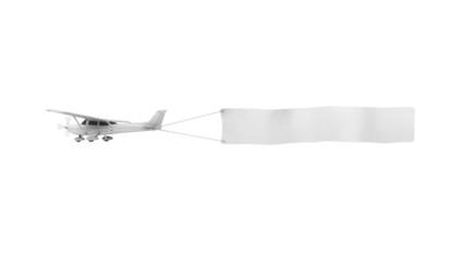 Über den Wolken ... Flugzeug mit beschreibbarem Banner