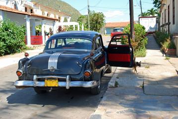 Türaufkleber Autos aus Kuba Caribbean Taxi