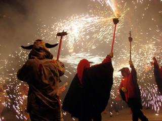 Autocollant pour porte Barcelona national holiday San Juan in barcelona, spain