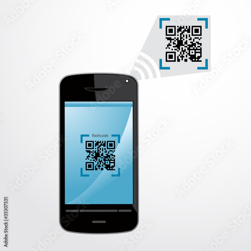 flashcode qr code smartphone fichier vectoriel libre de droits sur la banque d 39 images. Black Bedroom Furniture Sets. Home Design Ideas