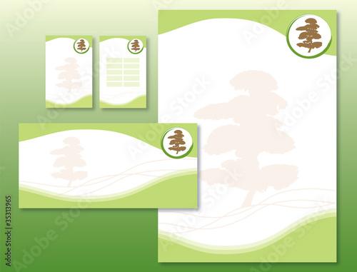 Charte Graphique Arbre Japonais Papier Et Carte Visite
