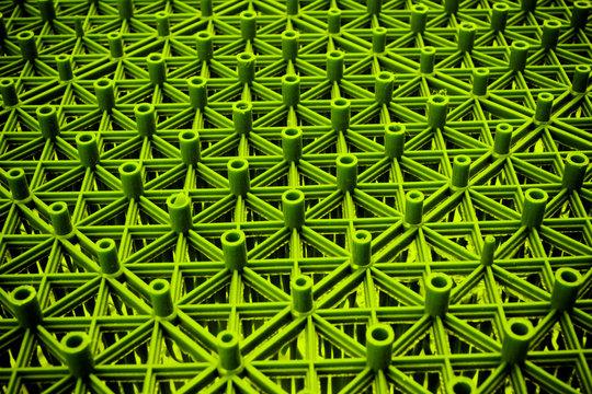 plastic part, factory green plastic part.