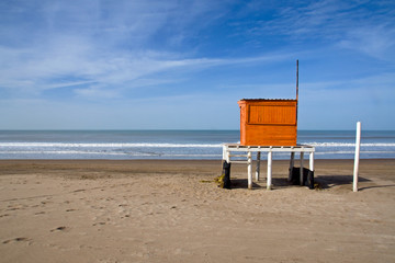 Lifeguard at the argentinean atlantic coast