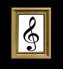 Quadro con chiave di violino