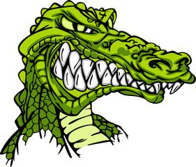 Alligator Mascot Vector Cartoon