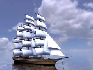 The  three-masted sailing ship
