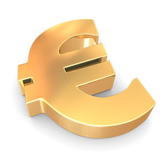 Sign of euro. 3d